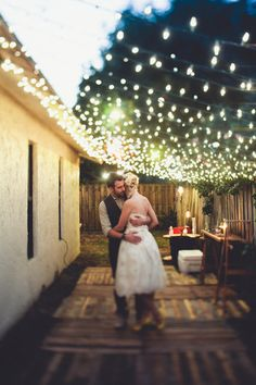 The first dance love wedding couples lights dance bride groom outside