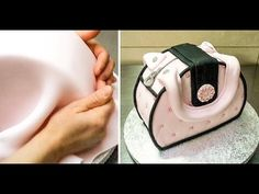 Simple Purse Cake Decorating - How To by CakesStepbyStep - YouTube
