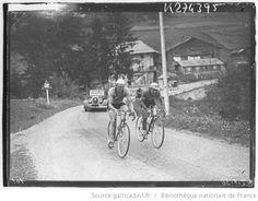 Tour de France 1936, 6e étape Évian-Aix les Bains le 13 juillet : la montée du col des Aravies par deux coureurs échappés