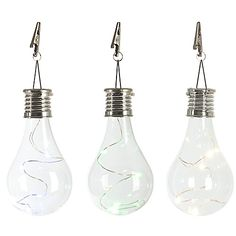 Infused with a colored micro string light inside, the Solar Edison Light Bulb Umbrella Clip Light is a great way to add a touch of stylish flair to your outdoor décor. Hang from an umbrella or awning using the included alligator clip.