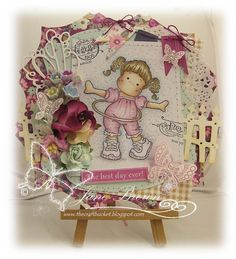 Day to Day Collection Rocking Tilda Stamp http://thecraftbucket.blogspot.co.uk/