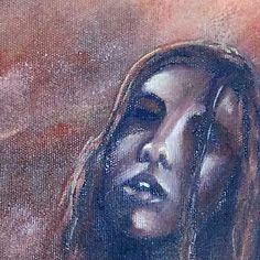 """Pintura a l'Oli. Retrat """"Bruixes  #escaldarium"""""""