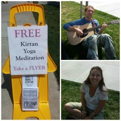 Nice day at American River College chanting and talking to people about Kirtan Meditation and how you can add it to your life. Thanks for coming out Jody and Pali.
