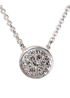 bamboo pink PARIS CHAIN NECKLACE SILVER, SILVER FINISH