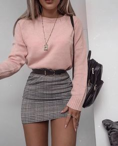 48 cool outfit ideas for a flawless look - Fashion - . - 48 cool outfit ideas for a flawless look – Fashion – - Winter Fashion Outfits, Look Fashion, Autumn Fashion, Winter Outfits With Skirts, Cute Winter Clothes, Womens Fashion, Autumn Clothes, Fall Skirts, Fashion Belts