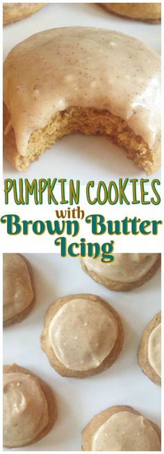 New Photos Pumpkin Cookies with Brown Butter Icing recipe image thegoldlininggirl. pin 2 Style Pumpkin Cookies with Brown Butter Icing recipe image thegoldlininggirl… pin 2 Pumpkin Cookie Recipe, Pumpkin Dessert, Pumpkin Butter, Pumpkin Spice Cookies, Cookie Pie, Cookie Monster Pumpkin, Pumpkin Baking Recipes, Pumpkin Puree, Fall Cookie Recipes