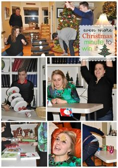 Christmas Minute to Win It Games are sure to be a hit at your next holiday party!