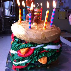 The Scooby Doo Hamburger Birthday Cake