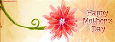Single Flower Happy Mothers Day Facebook Cover CoverLayout.com