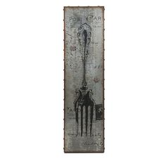 galvanized magnetic spoon wall decor: with a classic french post