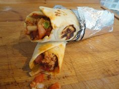 Saturday Night Fakeaway – Mexican Beef and Bean Burrito with Mexican Rice and Salsa