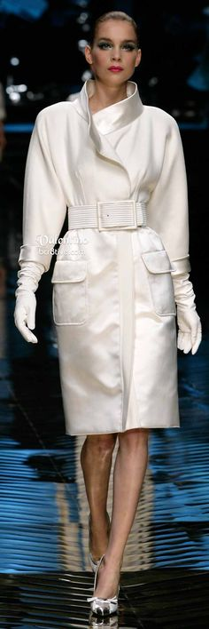Classic White Valentino Dress Coat