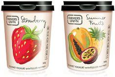 Watermark - work by Jo Tronc Yogurt Packaging, Dairy Packaging, Fruit Packaging, Food Packaging Design, Pretty Packaging, Brand Packaging, Branding Design, Fruit Drinks, Fruit Fruit