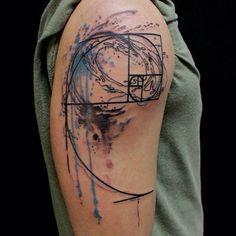 Resultado de imagen para espiral de fibonacci tatuaje