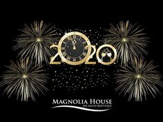Happy New Years from the Magnolia House Team. We hope that 2020 will be the best year ever. New Years Party, New Years Eve, New Year's Eve Countdown, Havana Club, Happy New Year 2020, Magnolia Homes, Spa Day, Christmas And New Year, Salons