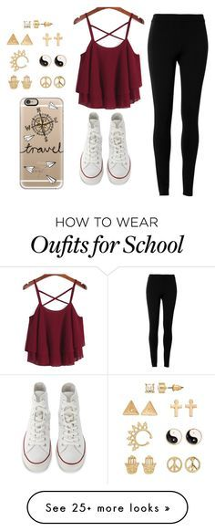 """""""No school!!!"""" by elisabeth2004 on Polyvore featuring Max Studio, Converse, Mudd and Casetify"""