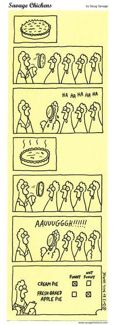 Pie Science Cartoon | Savage Chickens - Cartoons on Sticky Notes by Doug Savage