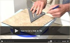 How to Cut a Hole in Tile: If you are tiling a bathroom, you are sure to run into a pipe or two you have to cut holes for. The Family Handyman editor, Jeff Gorton, shows you how to layout the hole and how to cut it with a Brutus hole saw kit for a perfect fit. Watch Video: http://www.familyhandyman.com/tiling/tile-installation/how-to-cut-a-hole-in-tile/view-all