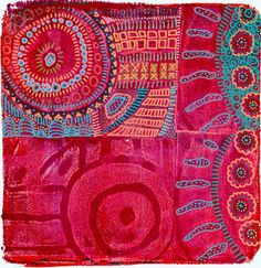 Printing with Gelli: When Gelli Meets MagicStamps™ doodle on top with markers