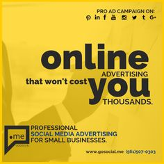 www.gosocial.me (561) 507-0303 #socialmedia #smm #advertising #lowcost #gosocialme #affordable #deal