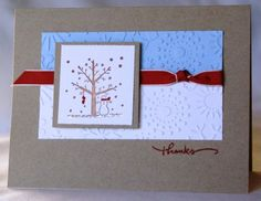 using Stampin Up A Tree for All Seasons retired stamp set