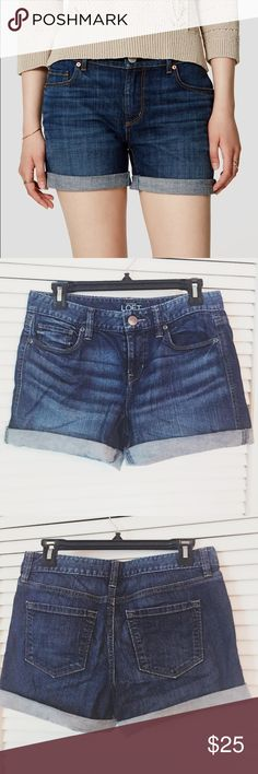 Selling this LOFT Denim Shorts on Poshmark! My username is: lmcdavid75. #shopmycloset #poshmark #fashion #shopping #style #forsale #LOFT #Pants