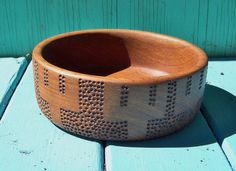 Small Ginnur Hand Carved Offering Bowl  by FolkHearthWorkshop