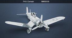Metal Earth F4U Corsair 3D Laser Cut Model Fascinations 010350