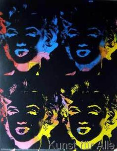 One-of-a-Kind Four Gold Marilyn's (Reversal Series) by Andy Warhol Art Print Andy Warhol Marilyn, Pop Art, Andy Warhol Museum, Victor Vasarely, Portrait, American Artists, Vienna, Framed Art, Poster