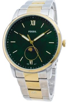 Features:  Stainless Steel Case Two Tone Stainless Steel Bracelet Quartz Movement Mineral Crystal Green Mother Of Pearl Dial Analog Display Luminous Hands And Markers Solid Case Back Deployment Clasp 50M Water Resistance  Approximate Case Diameter: 42mm Approximate Case Thickness: 8mm Seiko 5 Sports Automatic, Seiko Automatic, Vintage Costume Jewelry, Vintage Costumes, Stainless Steel Bracelet, Stainless Steel Case, Seiko 5 Military, Hippie Jewelry, Yoga Jewelry