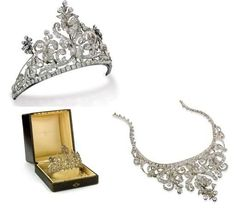 19th Century Diamond Tiara that converts to a necklace by Divonsir Borges