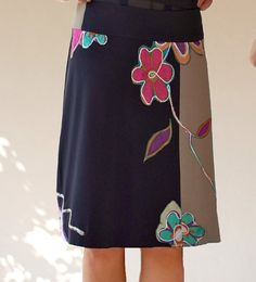 Multi colors flower embellished women skirts/Knee length by Zayade