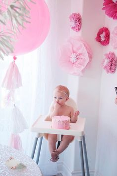 Girly pink 1st birthday
