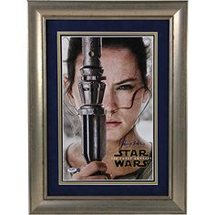 Daisy Ridley Autographed Star Wars Vii: The Force Awakens 10 Inch X 16 Inch Close Up Movie Poster PSA/DNA Authenticated Ssm