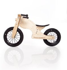 """Prince Lionheart Chop Balance Bike, Natural by Prince Lionheart. $83.47. Height adjustable seat. Solid rubber handgrips and 12"""" rubber tires. 100% birch wood frame. Great transition from ride on toys. Teaches young children balance, steering, coordination. From the Manufacturer                The award winning Chop balanceBIKE teach children balance and coordination – crucial skills necessary before transitioning to a two-wheeled pedal bicycle. With it's cool,..."""