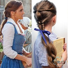 Pretty Hair is Fun: Beauty and the Beast- Emma Watson Belle Hairstyles
