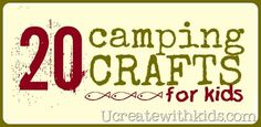 20 Camping Crafts for Kids! liked the nature scavenger hunt and the making pictures with leaves ideas. Camping Crafts For Kids, Camping Activities, Camping With Kids, Activities For Kids, Camping Ideas, Kid Crafts, Camping Glamping, Camping Theme, Indoor Camping