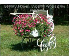 Dolls Prams, Baby Strollers, Planters, Children, Cottage, Gardening, Ideas, Baby Prams, Young Children