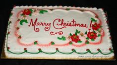 Christmas cake poinsettia decoration from the ABC Cake Shop in Canada!