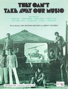 ERIC BURDON & WAR - THEY CAN T TAKE AWAY OUR MUSIC - 1970 - ORIG. UK MUSIKNOTE