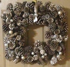 Pine Cone wreath Southern Living Homes, Door Hangers, Door Wreaths, Pine Cones, Wonderful Time, Christmas Wreaths, Window, Holidays, Holiday Decor