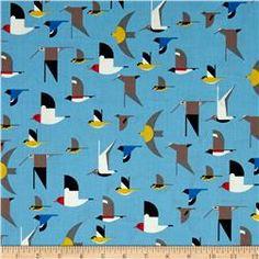 Birch Organic Charley Harper Maritime Birds Multi