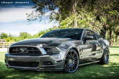 2014 Ford Mustang Fitted With 22 Inch Blaque Diamond BD-2's in Matte Graphite