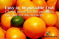Easy In, Impossible Out. Customers come from the products, but stay for the value-add services.