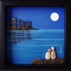 Unique Anniversary Gift for Parents- Pebble and Sea Glass Art- Couples Gift- Unique Anniversary Gifts- Engagement Retirement Birthday Gift - Pebble Art Couple- Pebble Art- Unique Wedding Gift- Anniversary Gift- Christmas Gift- Wedding Gift - Unique Anniversary Gifts, Anniversary Gifts For Parents, Wedding Gifts For Couples, Unique Wedding Gifts, Gift Wedding, Stone Crafts, Rock Crafts, Pebble Pictures, Art Pictures