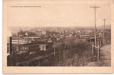 antique postcard, Reading Pennsylvania from Neversink Mountain-OR BACK WHEN IT USED TO BE A GREAT CITY.