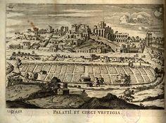 Veduta dei resti del Palatino e del Circo Massimo #roma #palatino #circomassimo #settecolli #illustrazione