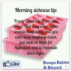 To help with morning sickness