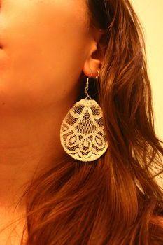 lace earring diy