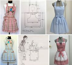 moldes de delantales clasicos Crafts, Fashion, Aprons, Bag, Craft, Ideas, Make Curtains, Chair Covers, Kitchen Aprons